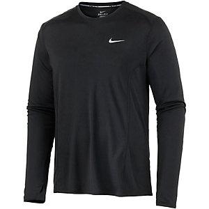 Nike Miler Laufshirt Herren schwarz