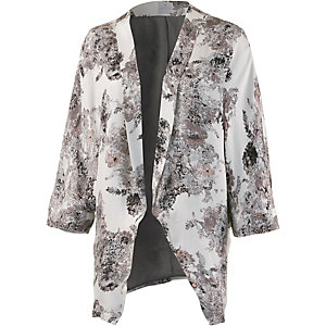 Culture Sweatblazer Damen grau