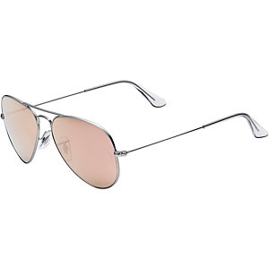 RAY-BAN Aviator 0RB3025 019/Z2 55 Sonnenbrille silberfarben/orange