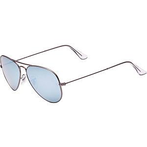 RAY-BAN Aviator 0RB3025 029/30 55 Sonnenbrille goldfarben/blau