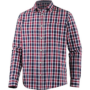TOM TAILOR Langarmhemd Herren rot/blau