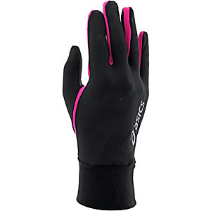 ASICS Basic Laufhandschuhe Damen schwarz/pink