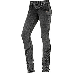Gang Nena Cross Skinny Fit Jeans Damen grey denim