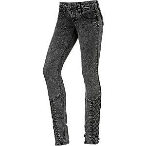 Gang Nena Cross Skinny Fit Jeans Damen grey denim