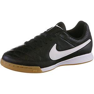 Nike Tiempo Genio Leather IC Jr. Fußballschuhe Kinder schwarz/weiß