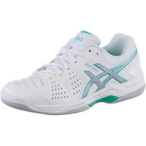 ASICS Gel Dedicate 4 Indoor Tennisschuhe Damen weiß/silberfarben