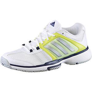 adidas Barricade Team 4 Tennisschuhe Damen weiß/gelb/blau