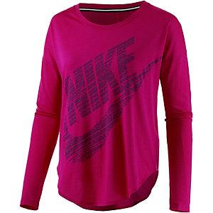 Nike Langarmshirt Damen fuchsia/beere