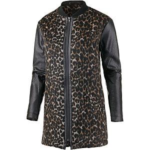 corinna kurzmantel damen schwarz leopard im online. Black Bedroom Furniture Sets. Home Design Ideas