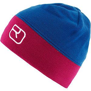 ORTOVOX Alpine Cap Beanie blau/himbeer
