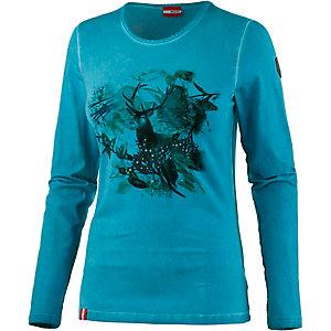 Almgwand Joglland Printlangarmshirt Damen türkis
