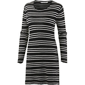 Volcom On Track Strickkleid Damen schwarz/offwhite