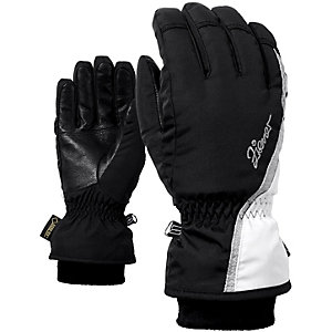 Ziener Handschuh Kinnia GTX® + Gore Warm Lady Skihandschuhe Damen schwarz/weiß