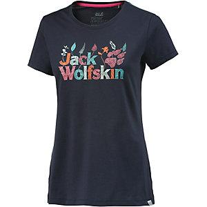 Jack Wolfskin Brand Printshirt Damen dunkelblau