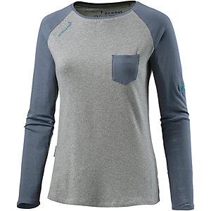 Mammut Logo Klettershirt Damen grau/blau