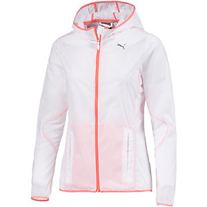 PUMA Laufjacke Damen weiß/orange