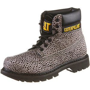 CATERPILLAR Colorado Calf Fur Schnürstiefel Damen hellgrau