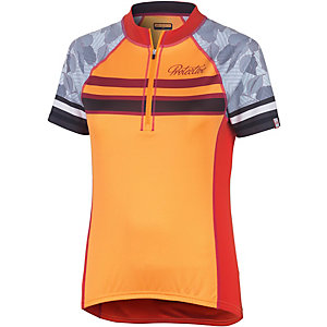 Protective Cairne Fahrradtrikot Damen orange/weiß
