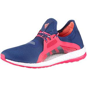 adidas Pure Boost X Laufschuhe Damen blau/rot