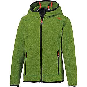 CMP Strickfleece Jungen grasgrün/rot