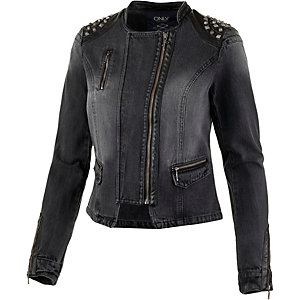 Only Bikerjacke Damen darkgrey denim
