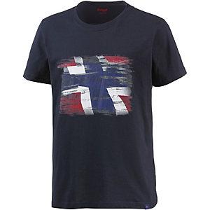 Bergans Norway Printshirt Herren dunkelblau