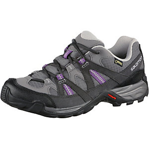 Salomon Escambia Low GTX Wanderschuhe Damen grau/lila