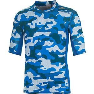 adidas Tech Fit Base Funktionsshirt Herren blau