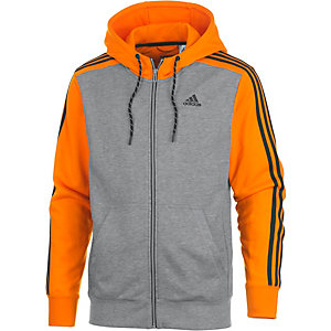 adidas Essential 3S Sweatjacke Herren grau/orange