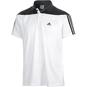 adidas Base 3S Poloshirt Herren weiß/schwarz