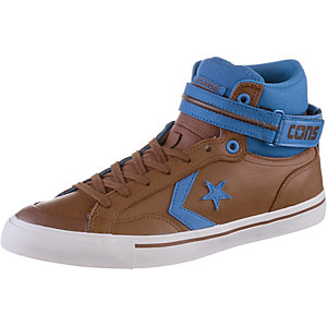 CONVERSE CONS Pro Blaze Plus Leather High Sneaker Herren Chocolate/Blue Jay/White