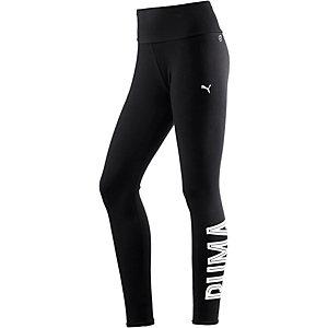 PUMA Leggings Damen schwarz/weiß
