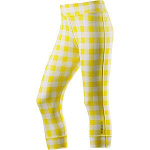 Reebok Tights Damen gelb/weiß