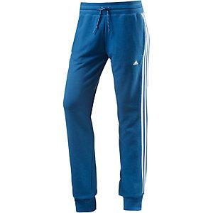 adidas Sweathose Damen blau/weiß