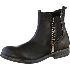 REPLAY Chelsea Boots Damen schwarz/goldfarben