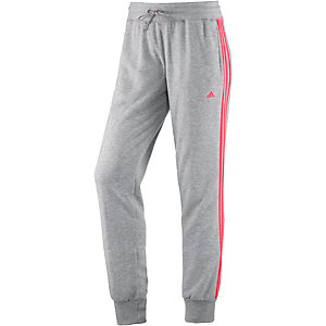adidas Sweathose Damen hellgrau/koralle