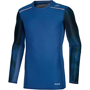 adidas Tech Fit Chill Kompressionsshirt Herren blau