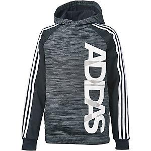adidas Hoodie Jungen grau/weiß
