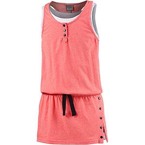 Bench Minikleid Mädchen rot melange/weiß