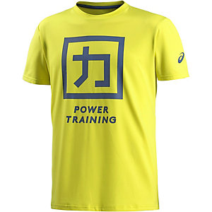 ASICS Power Training Funktionsshirt Herren gelb