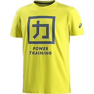 ASICS Power Training Funktionsshirt Herren gelb