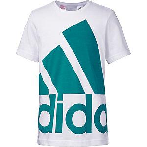 adidas Funktionsshirt Jungen weiß/türkis