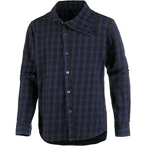 HUMÖR Langarmhemd Herren schwarz/blau
