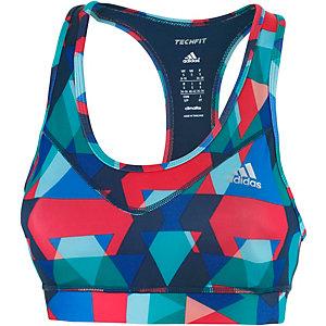 adidas Techfit Sport-BH Damen dunkelblau/bunt