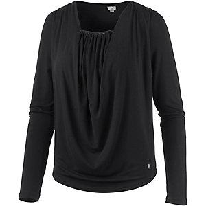 Khujo Langarmshirt Damen schwarz