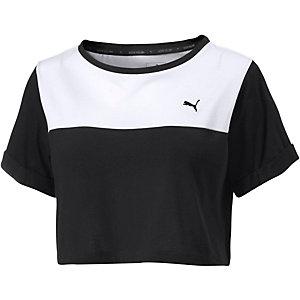 PUMA T-Shirt Damen schwarz/weiß