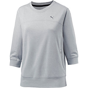 puma sweatshirt damen hellgrau im online shop von sportscheck kaufen. Black Bedroom Furniture Sets. Home Design Ideas