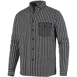 HUMÖR Langarmhemd Herren schwarz/weiß