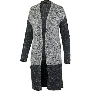 DEPT Strickjacke Damen schwarz/grau