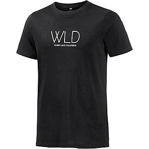 WLD Fine Lines Printshirt Herren schwarz